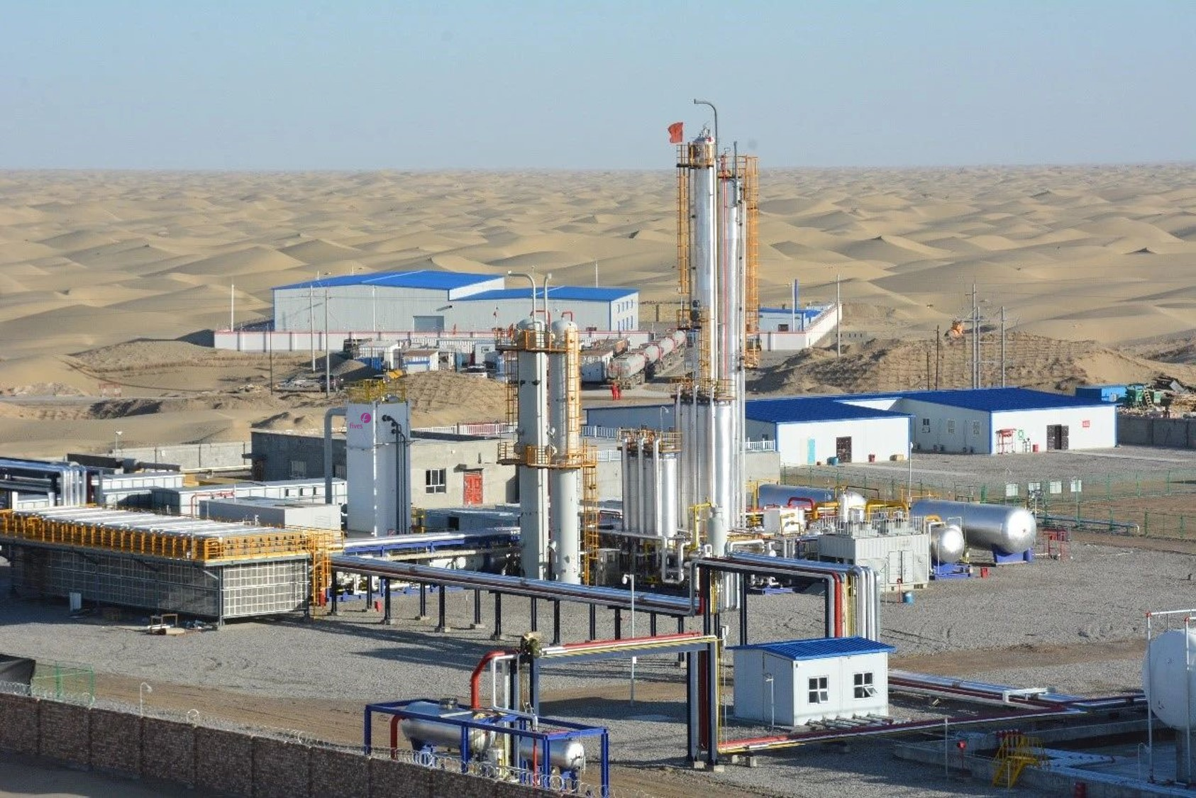 Fives cold boxes at the core of the largest LNG project in the Aksu Desert