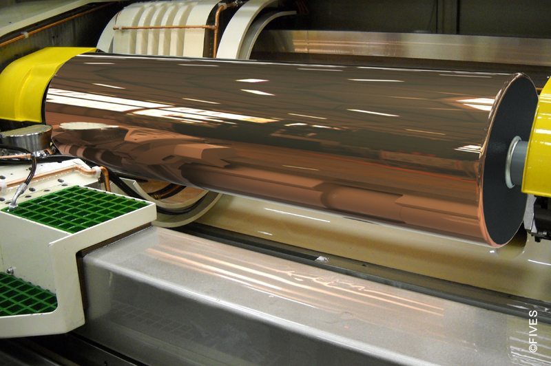 Cranfield Precision EcoR Pattern roll for UV cure process - Diamond turning machine