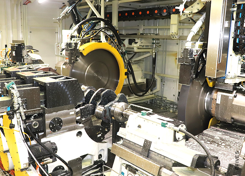 Landis LT2HHe - Heavy-duty crankshaft grinding