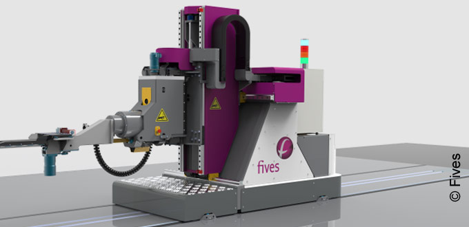 Robotic roll changer from Fives to enhance safety