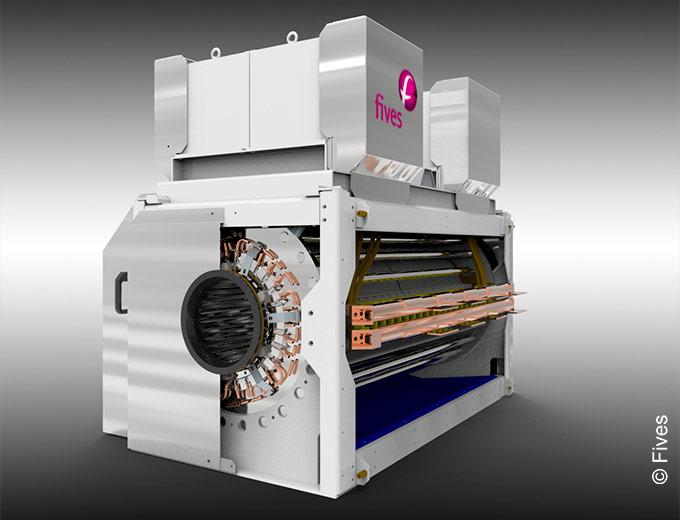 CELES CELINE high-flux inductors for hybrid furnaces or mini mills